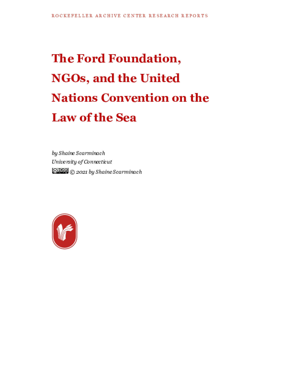 The Ford Foundation, NGOs, and the United Nations Convention on the Law of the Sea