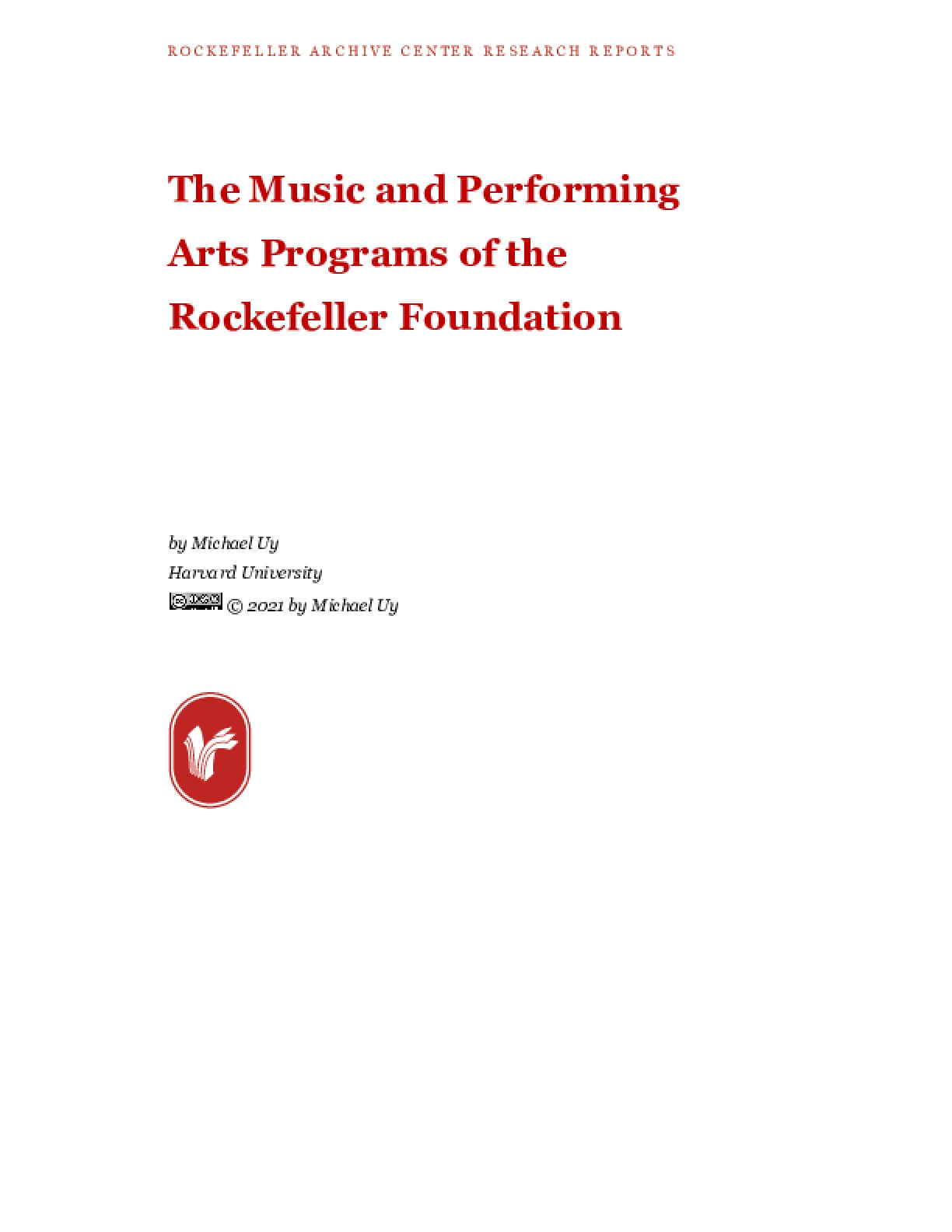 The Music and Performing Arts Programs of the Rockefeller Foundation