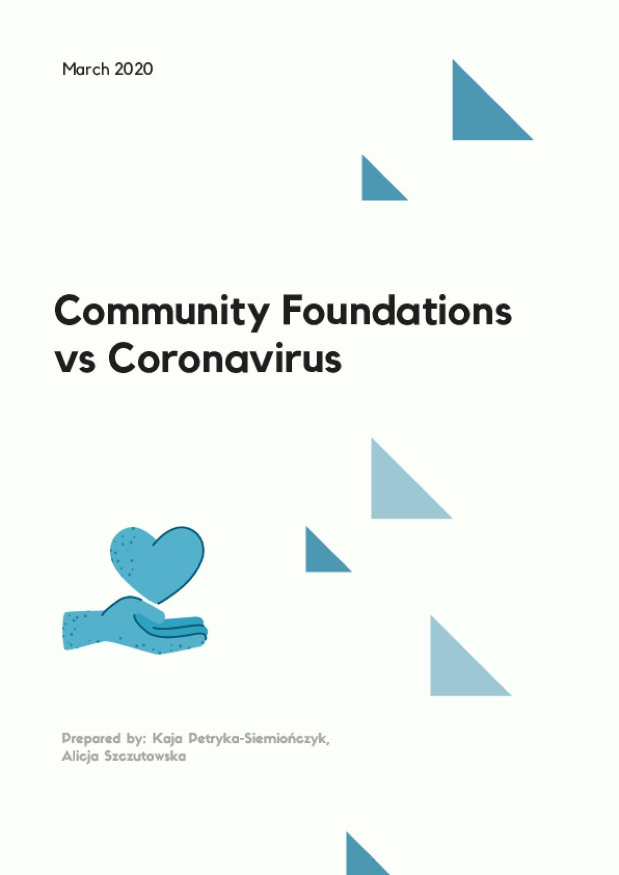 Community Foundations vs Coronavirus