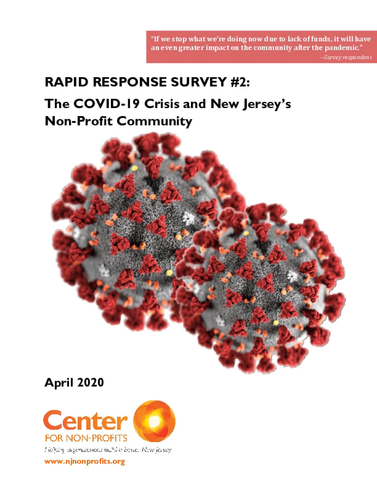 Rapid Response Survey #2: The COVID-19 Crisis and New Jersey's Non-Profit Community