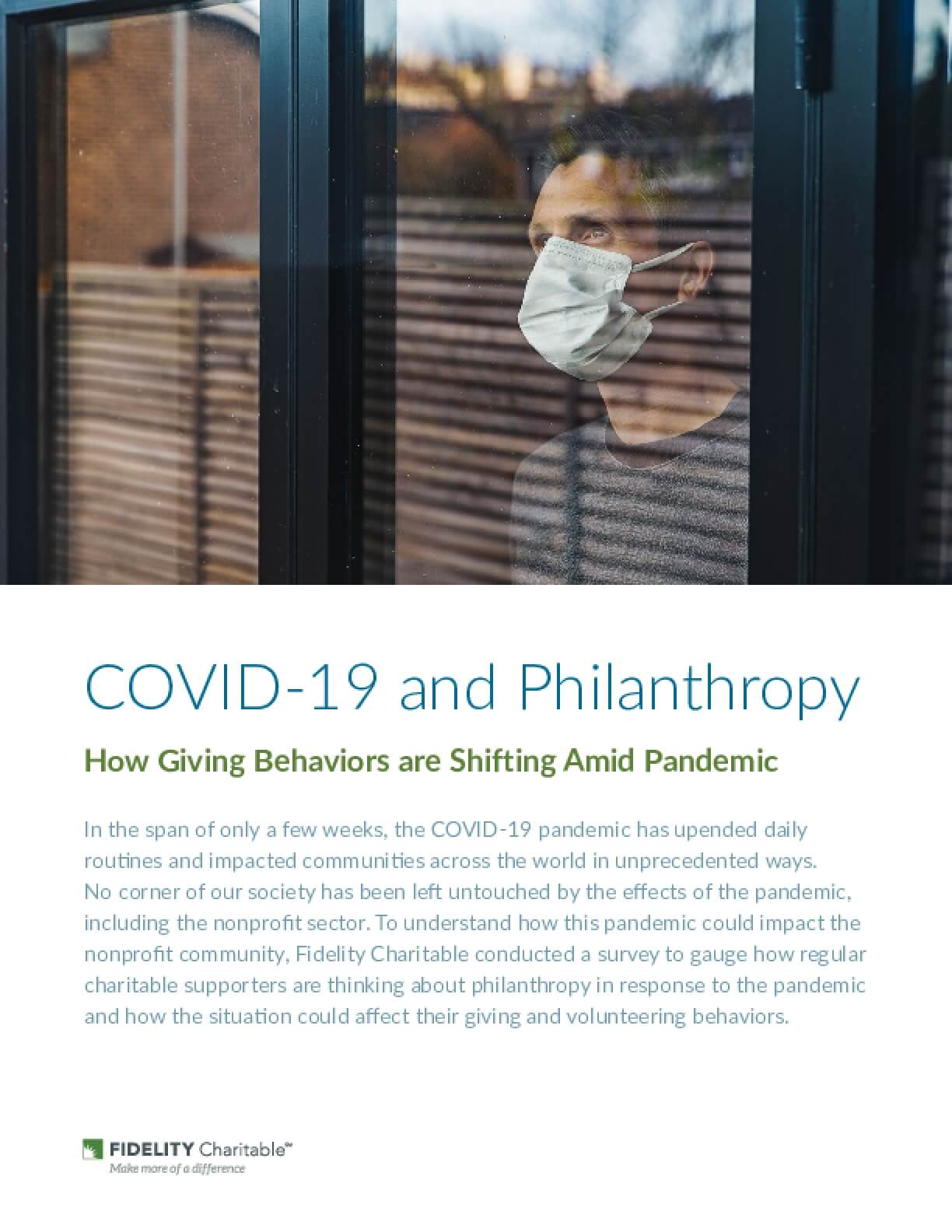 COVID-19 and Philanthropy: How Giving Behaviors are Shifting Amid Pandemic