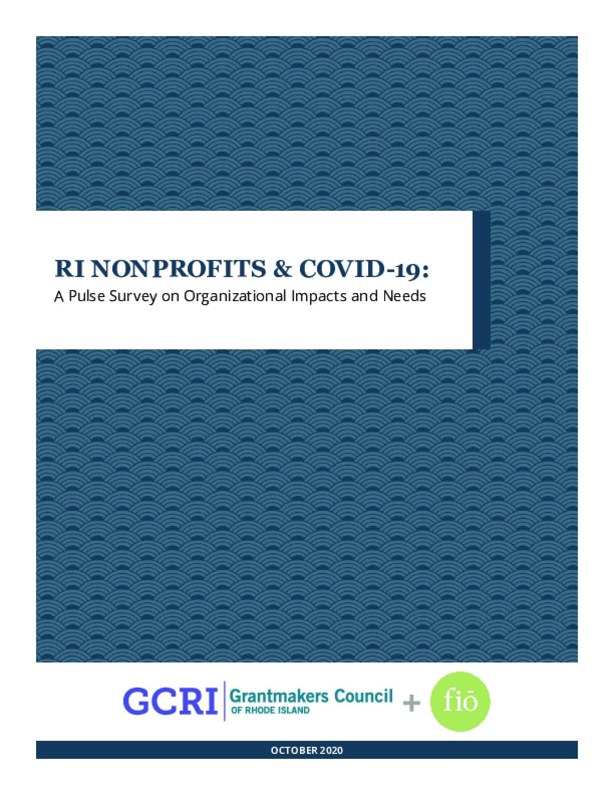 RI Nonprofits & COVID-19: A Pulse Survey on Organizational Impacts and Needs