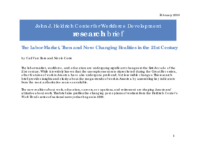 The Labor Market, Then and Now: Changing Realities in the 21st Century
