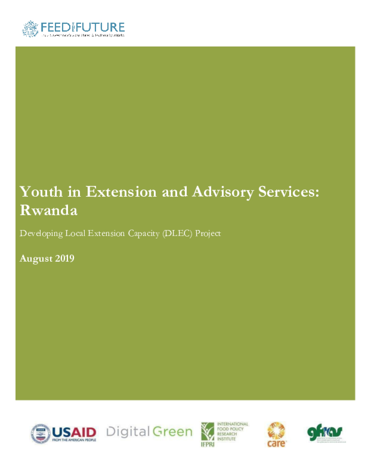Youth in Extension and Advisory Services: Rwanda. Developing Local Extension Capacity Project