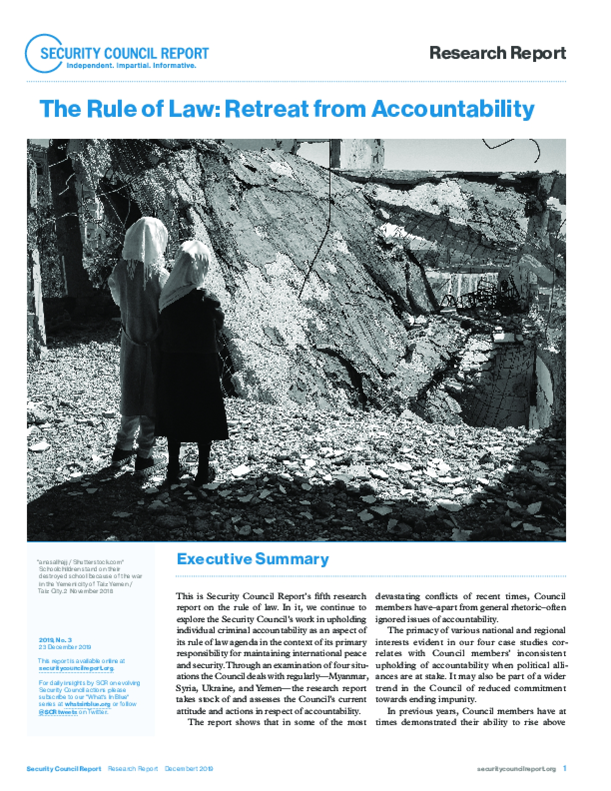The Rule of Law: Retreat from Accountability