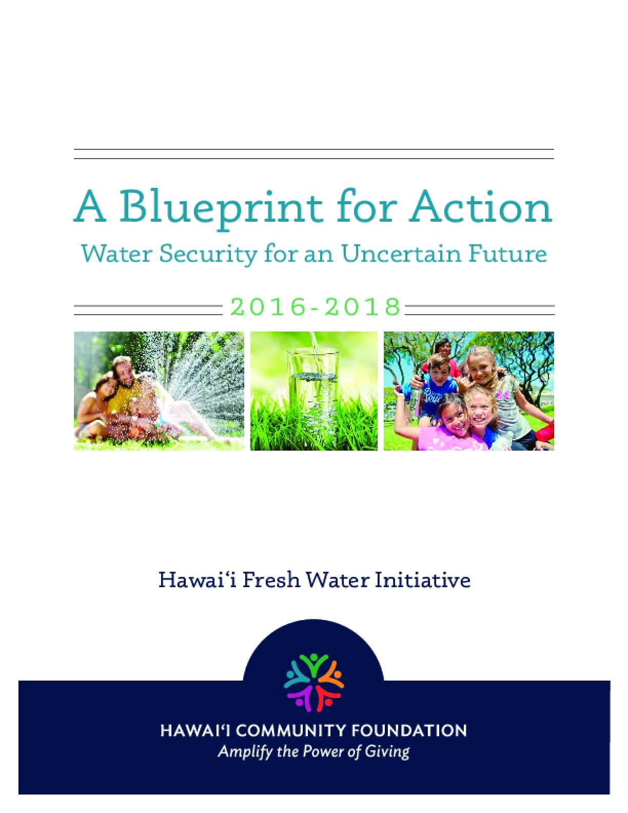 A Blueprint for Action: Water Security for an Uncertain Future