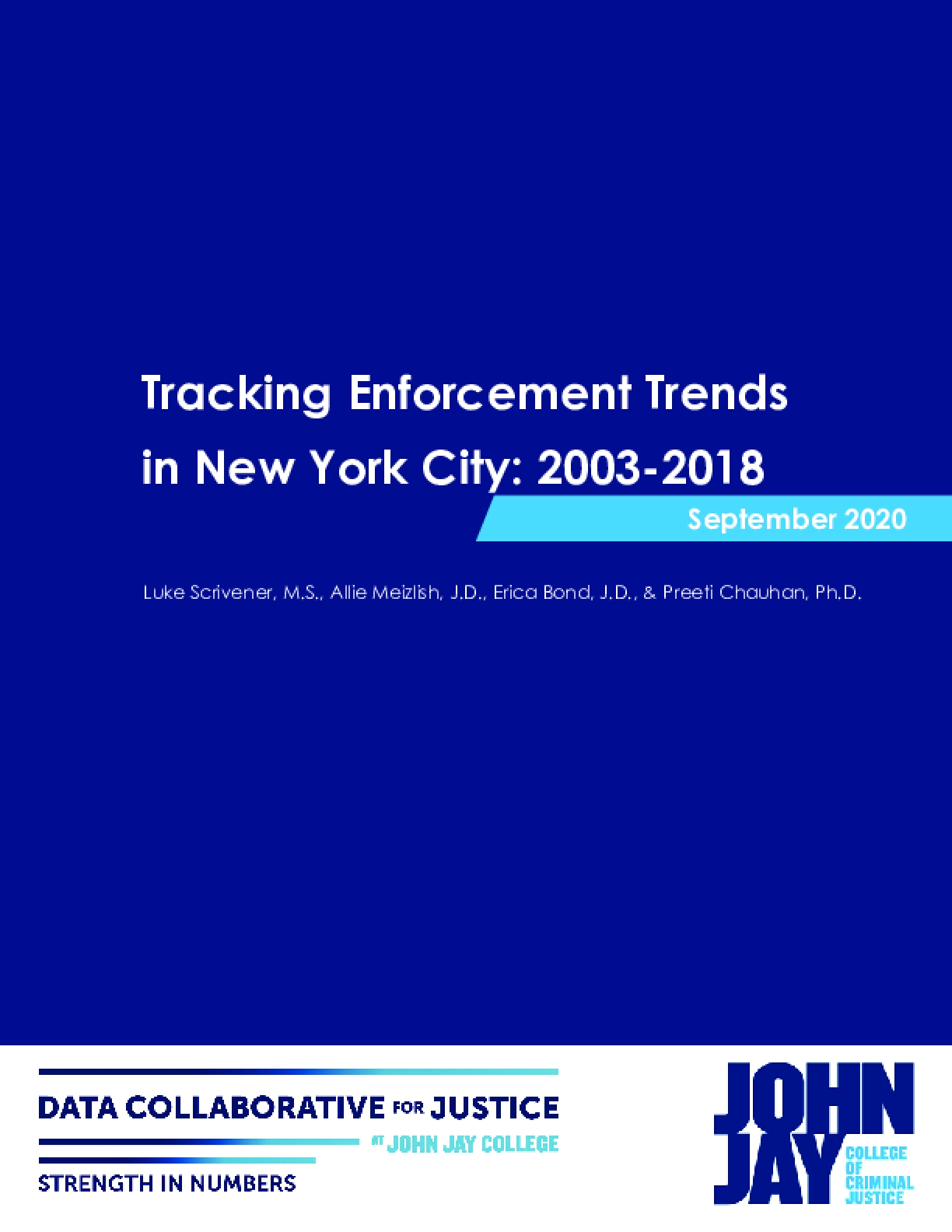Tracking Enforcement Trends in New York City: 2003-2018