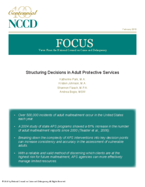 Structuring Decisions in Adult Protective Services