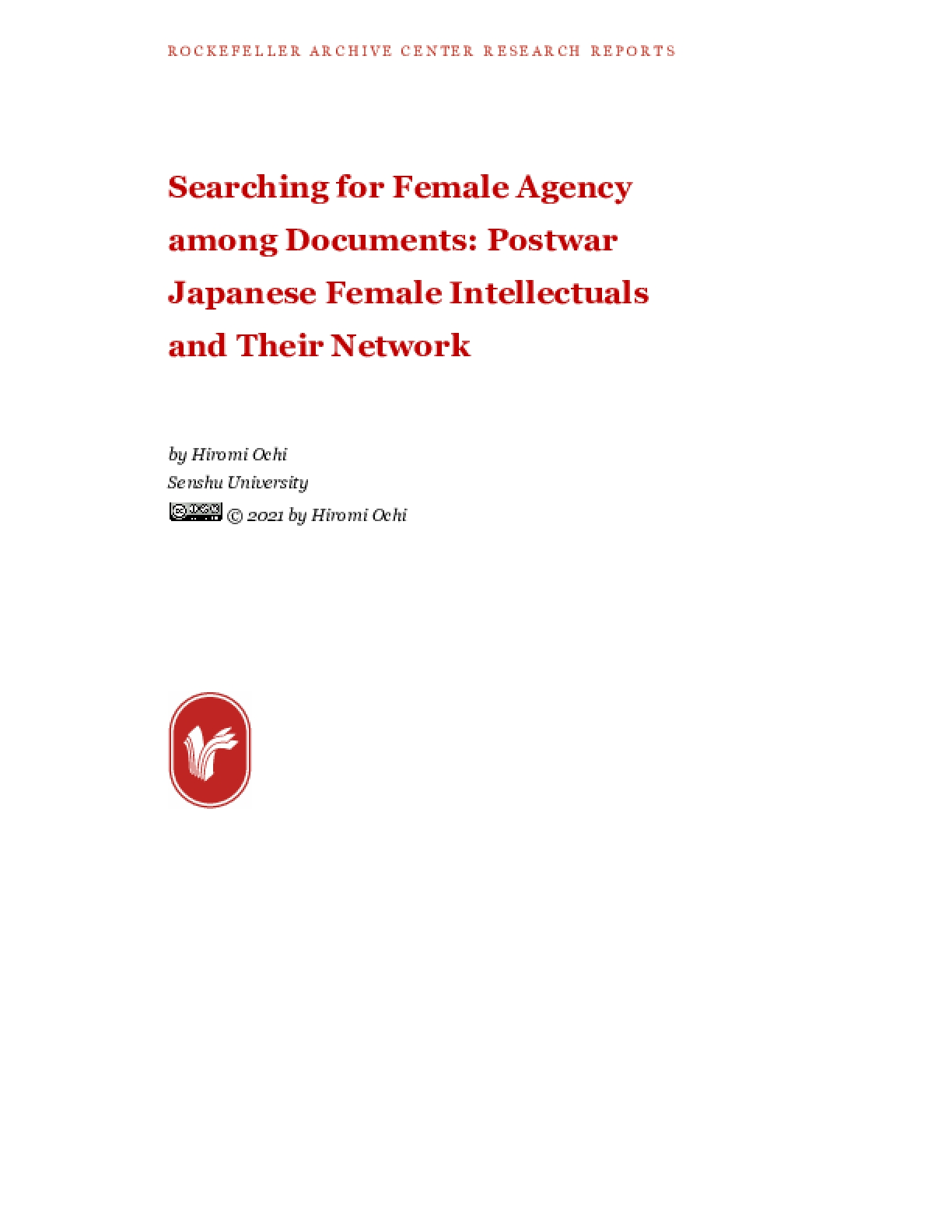 Searching for Female Agency among Documents: Postwar Japanese Female Intellectuals and Their Network