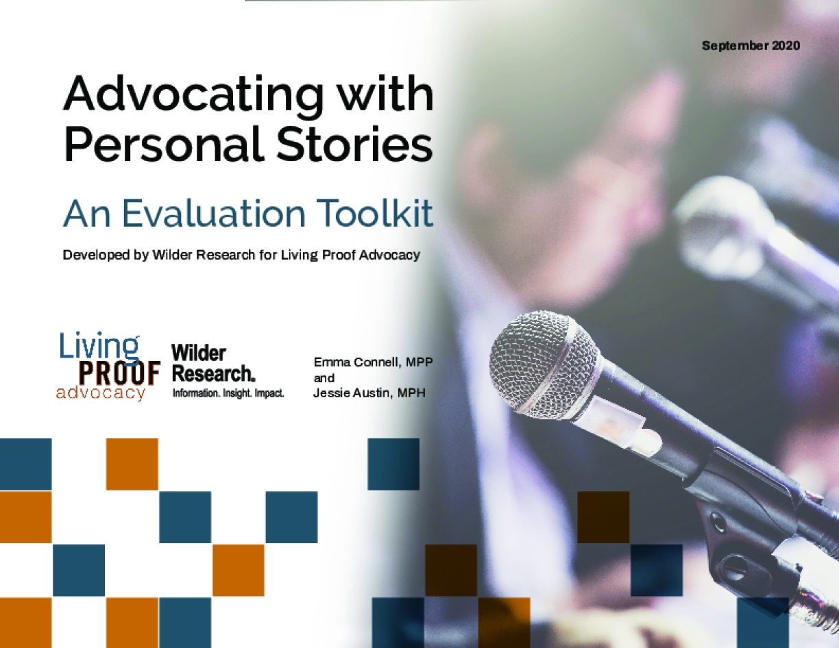 Advocating with Personal Stories: An Evaluation Toolkit