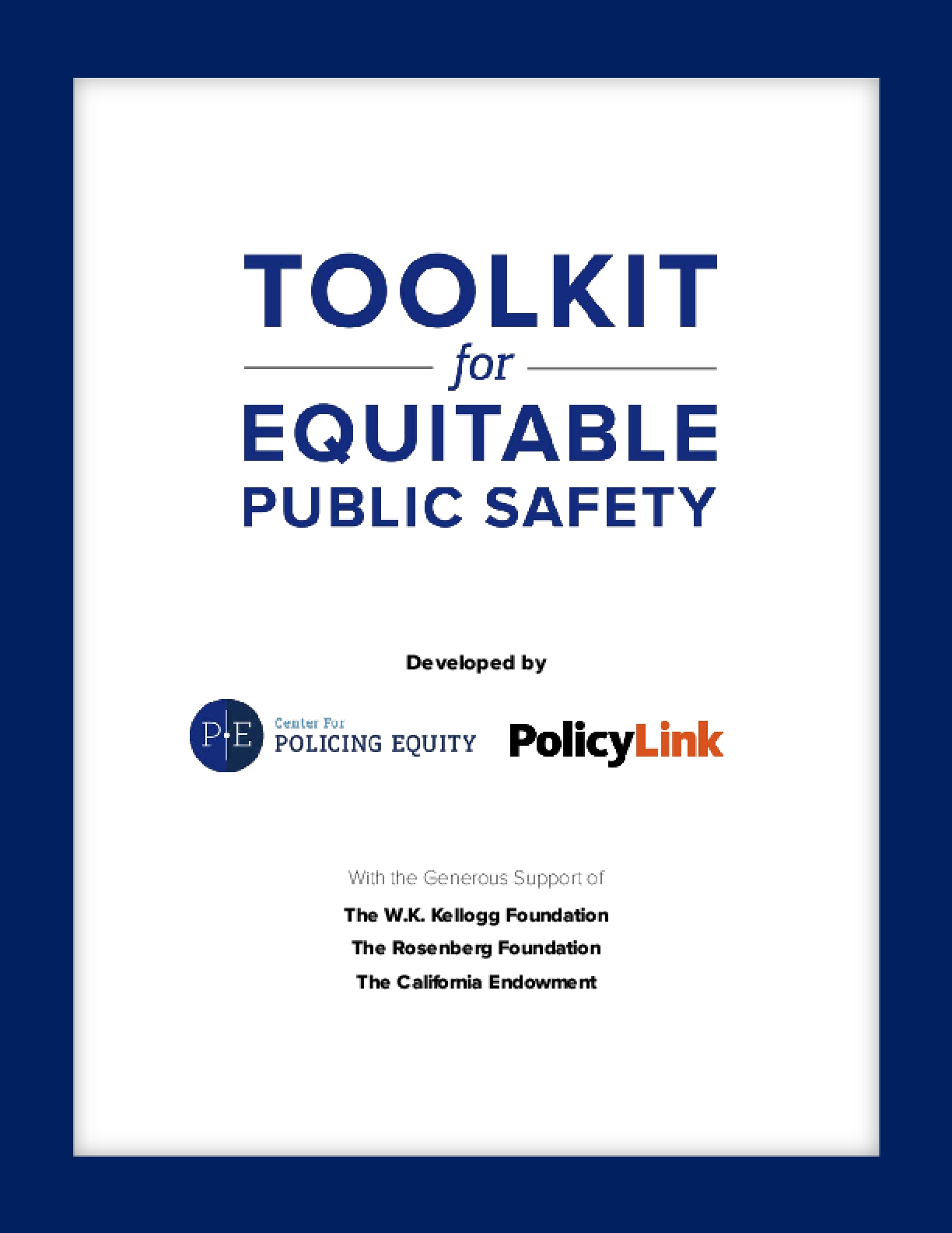 Toolkit for Equitable Public Safety