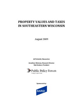 Property Values and Taxes in Southeastern Wisconsin