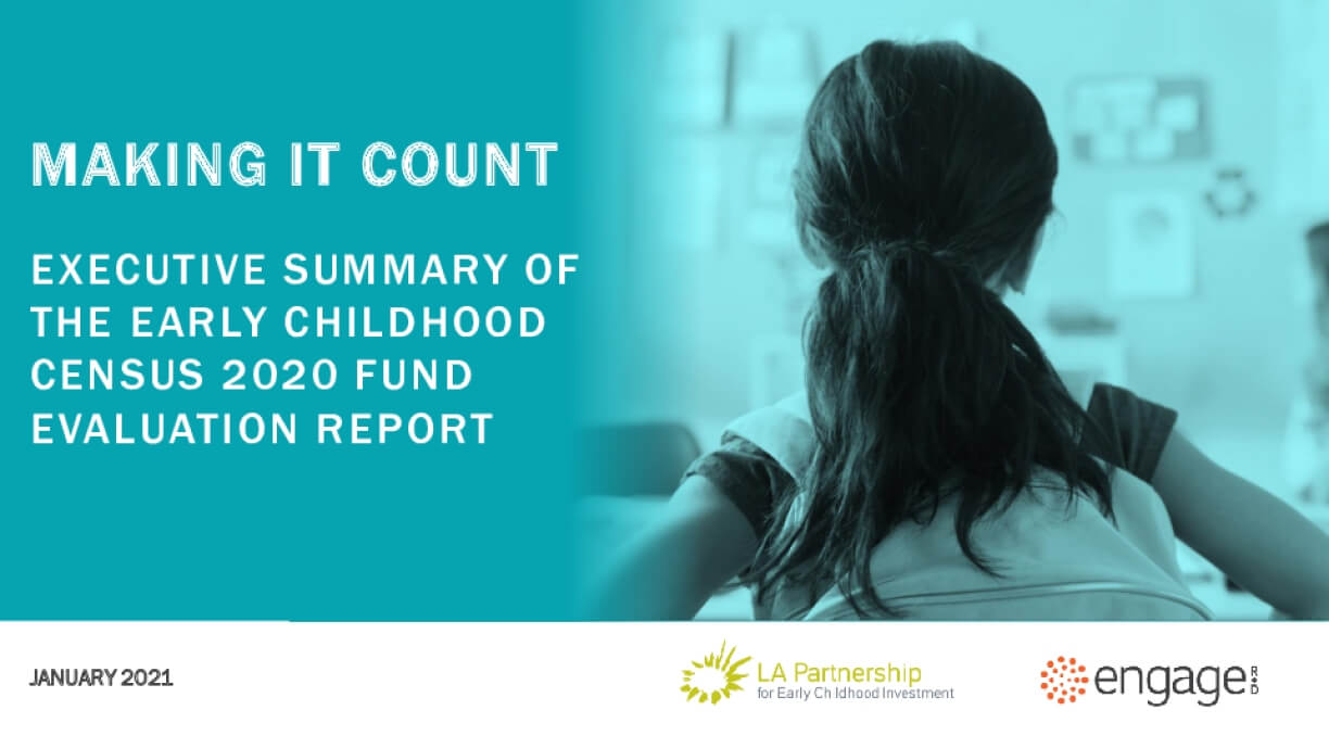 Making It Count: Executive Summary of the Early Childhood Census 2020 Fund Evaluation Report