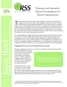 Tourism and Amenity-Based Development in Rural Communities