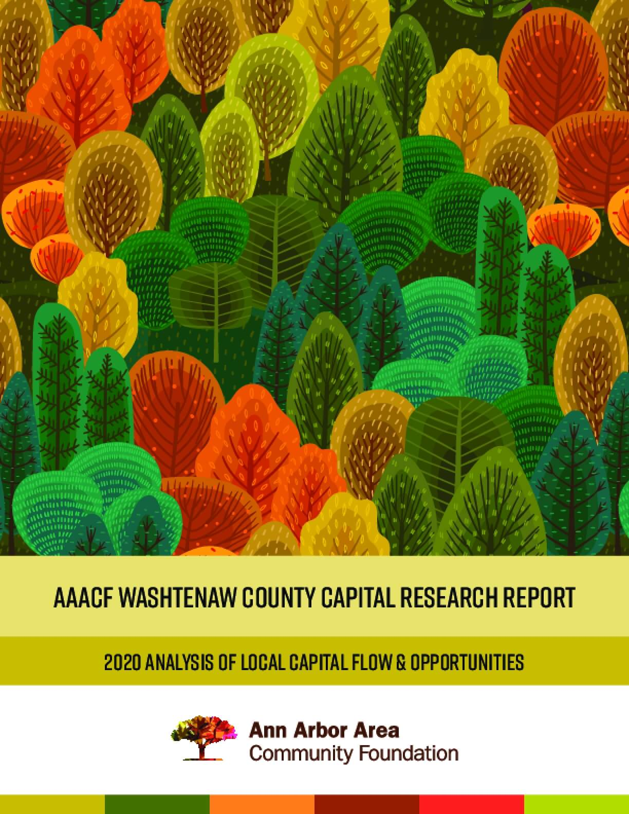 AAACF Washtenaw County Capital Research Report: 2020 Analysis of Local Capital Flow & Opportunities