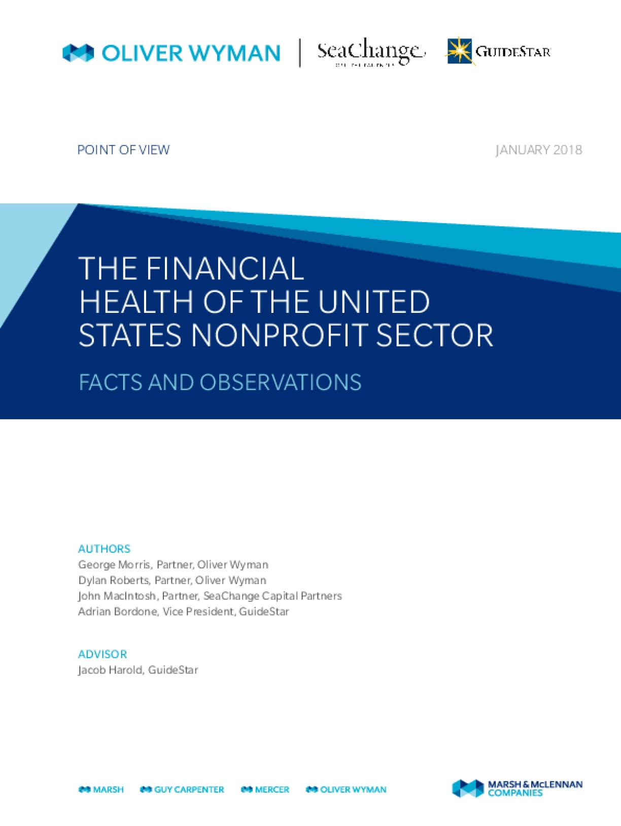 The Financial Health of the United States Nonprofit Sector: Facts and Observations