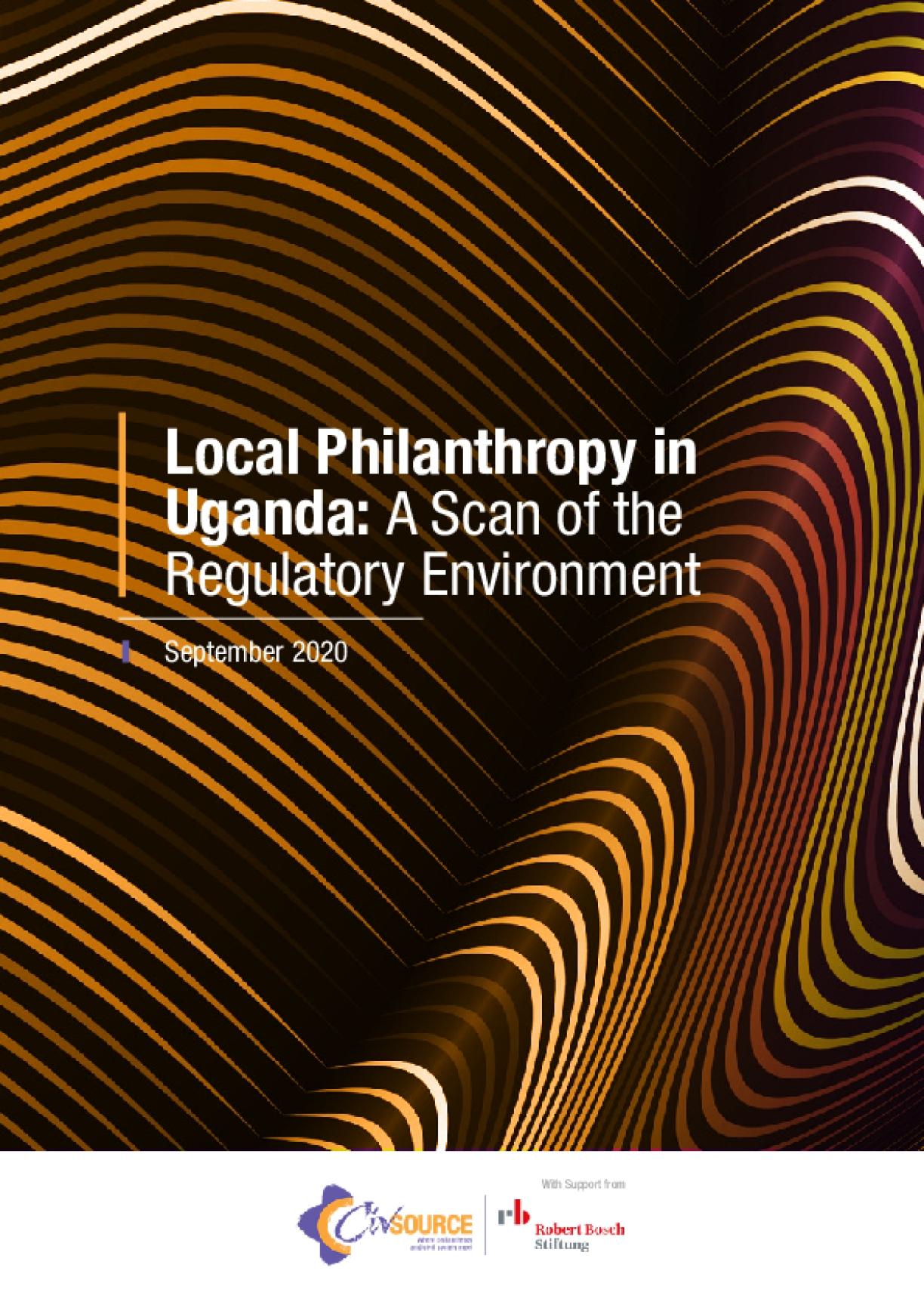 Local Philanthropy in Uganda: A Scan of the Regulatory Environment