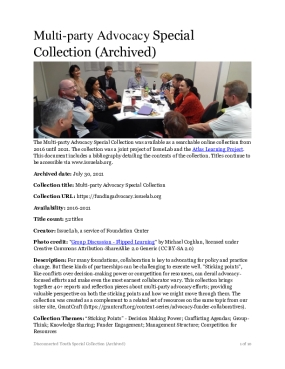 Multi-party Advocacy Special Collection (Archived)