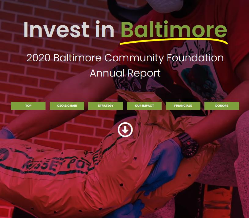 2020 Baltimore Community Foundation Annual Report