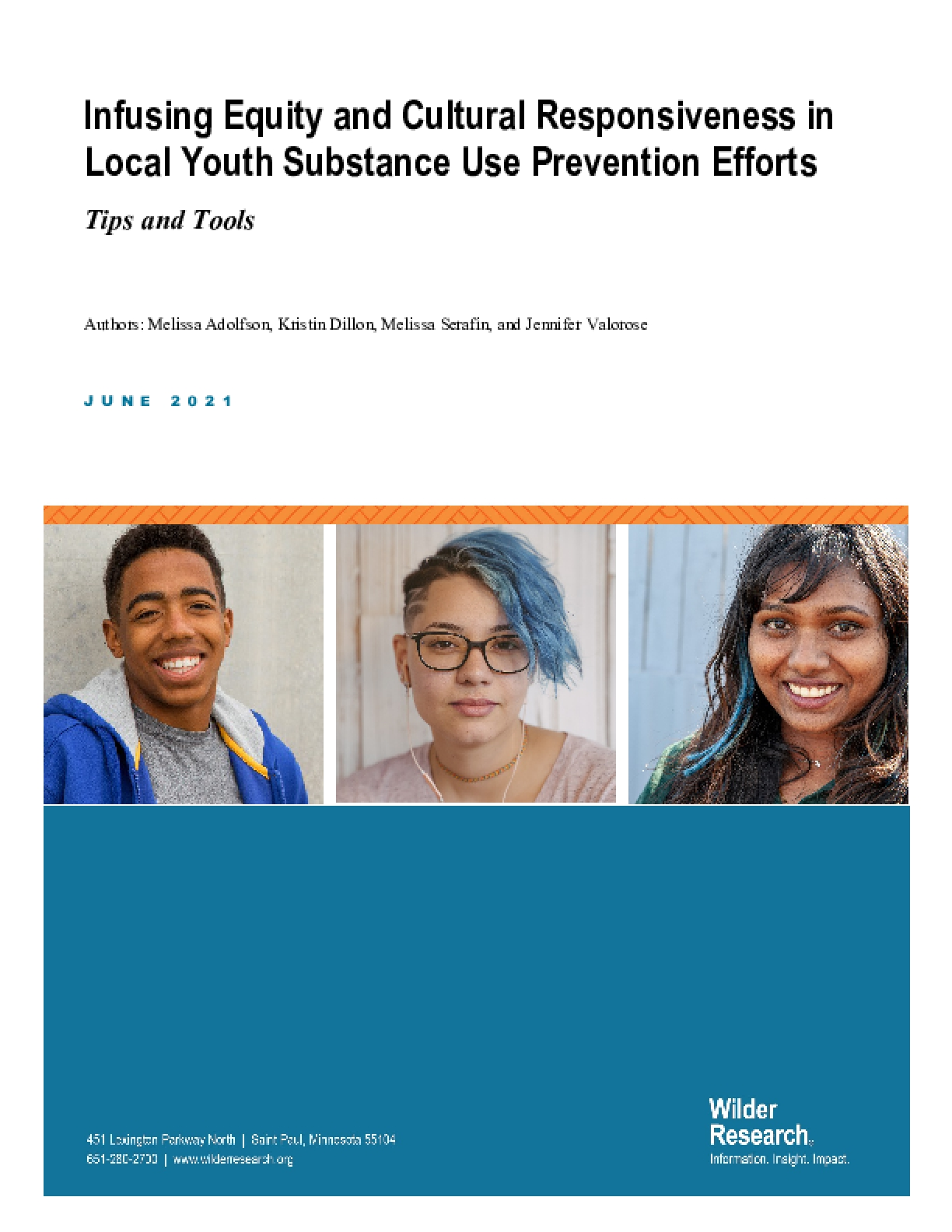 Infusing Equity and Cultural Responsiveness in Local Youth Substance Use Prevention Efforts: Tips and Tools