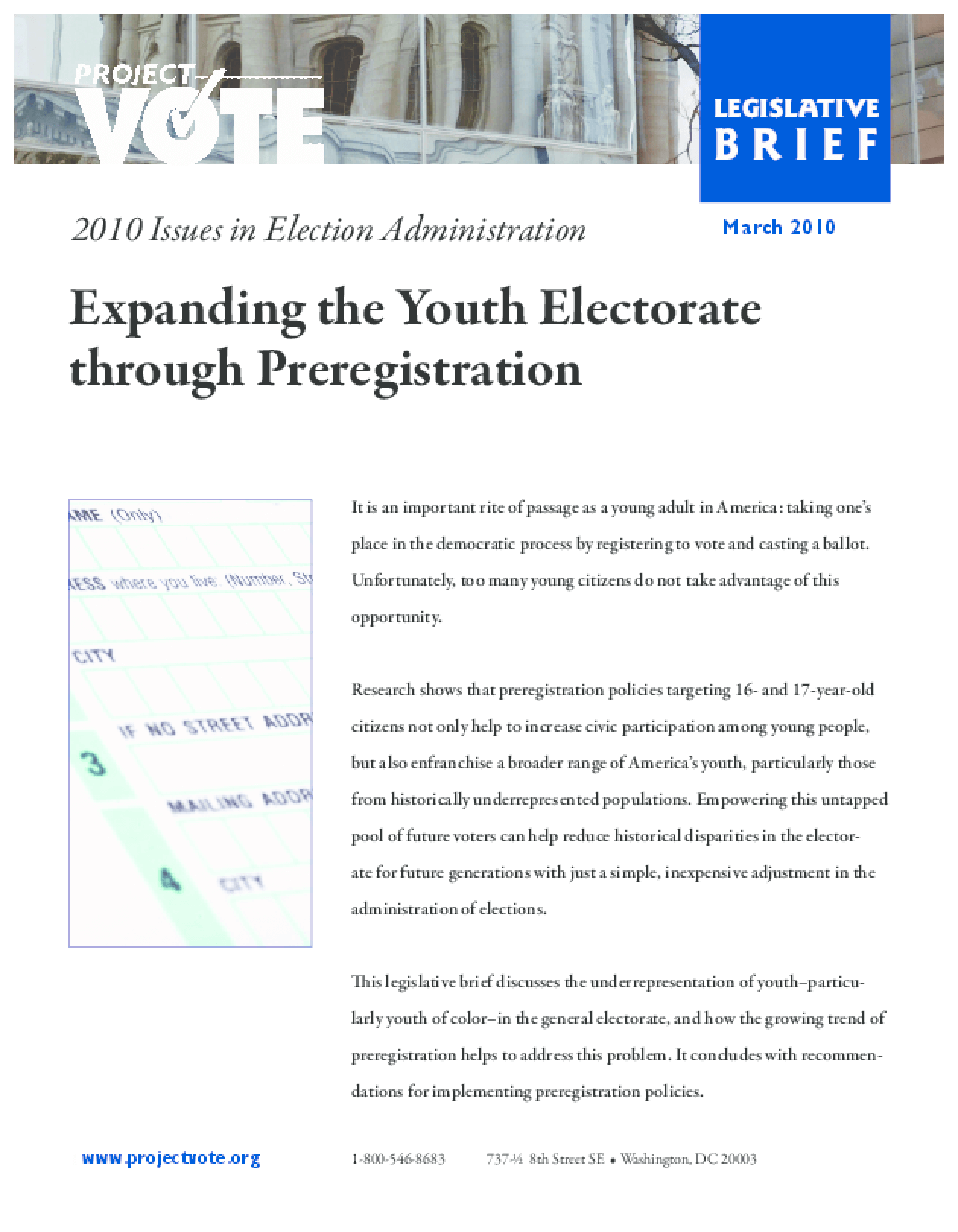 Expanding the Youth Electorate through Preregistration