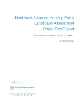 Northwest Arkansas Housing Policy Landscape Assessment Phase Two Report