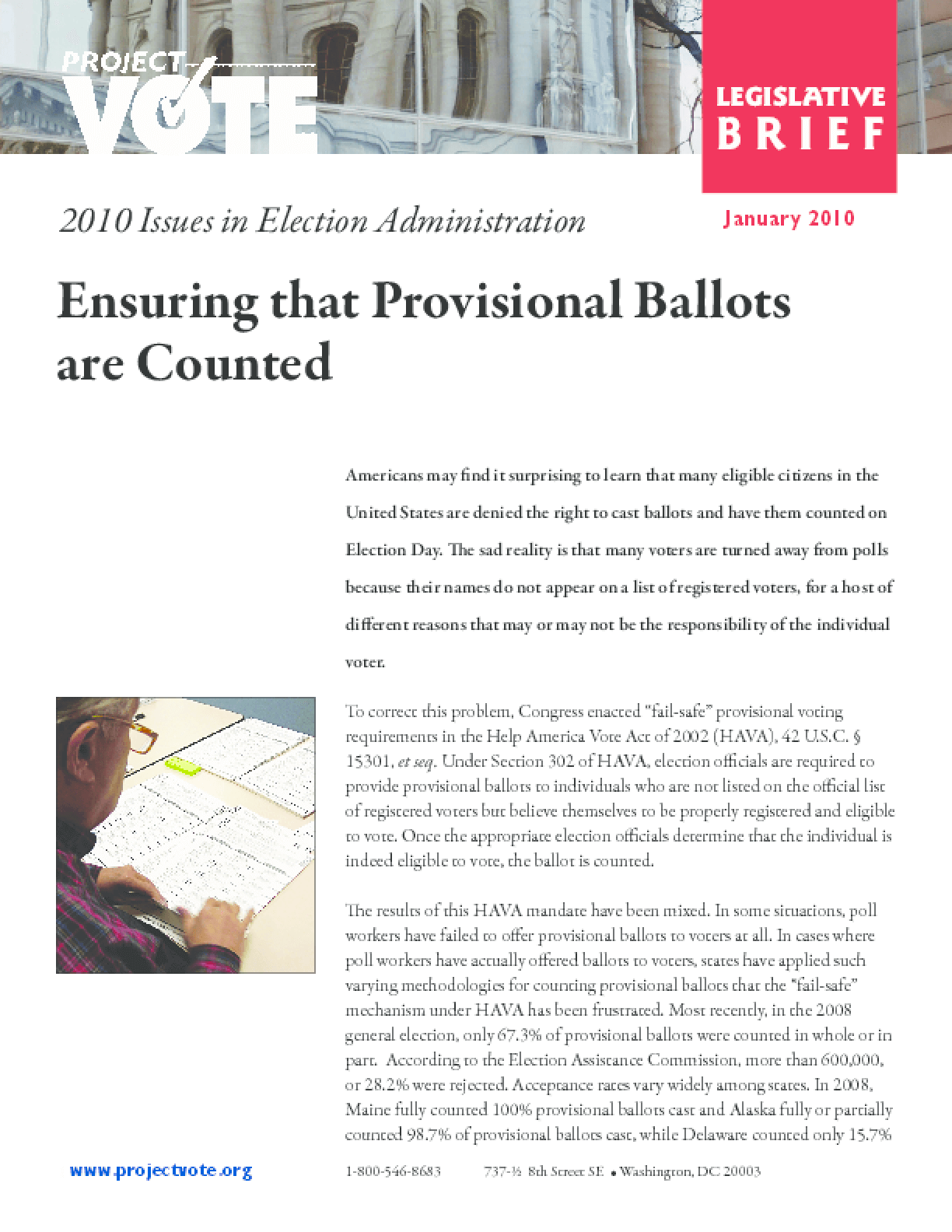 Ensuring that Provisional Ballots are Counted