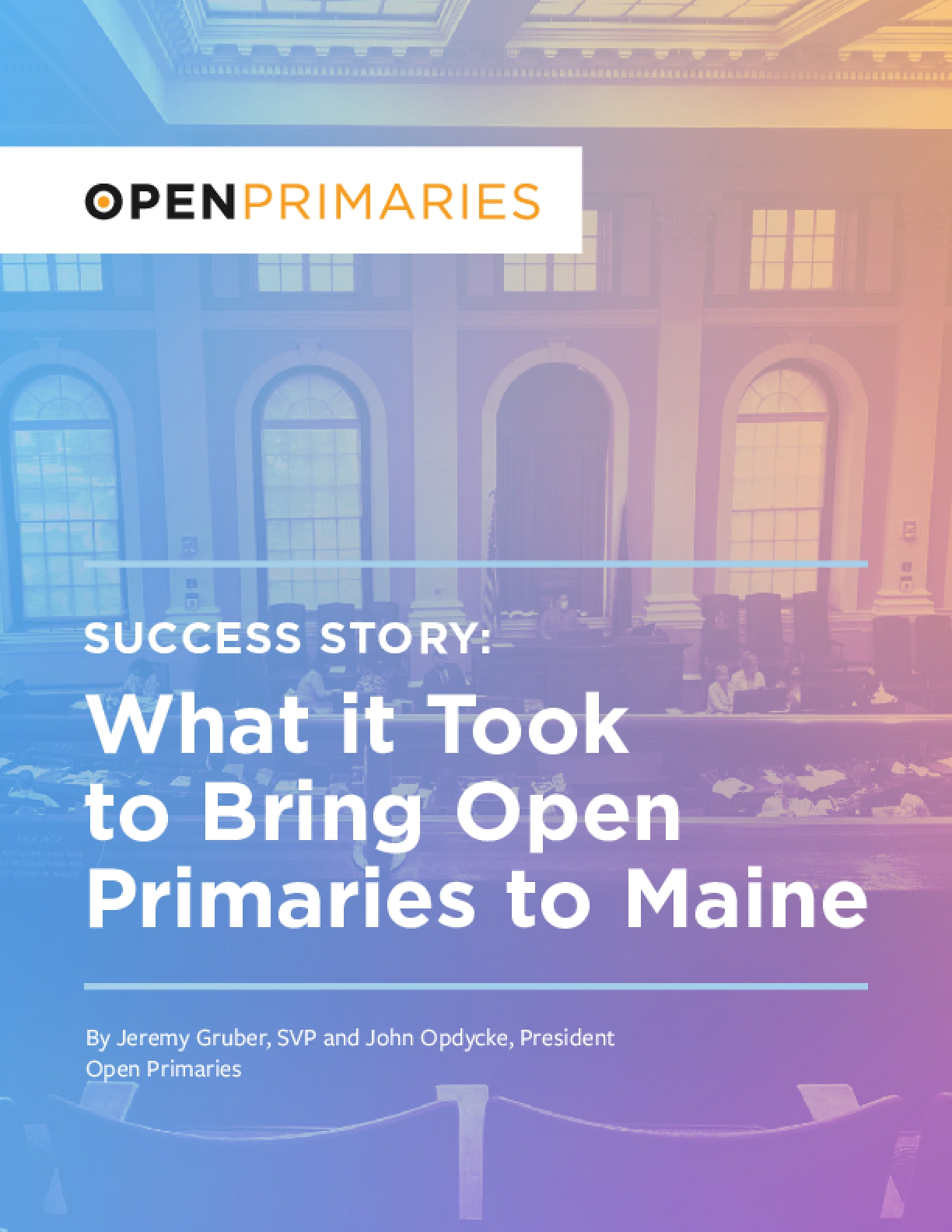 Success Story: What it Took to Bring Open Primaries to Maine