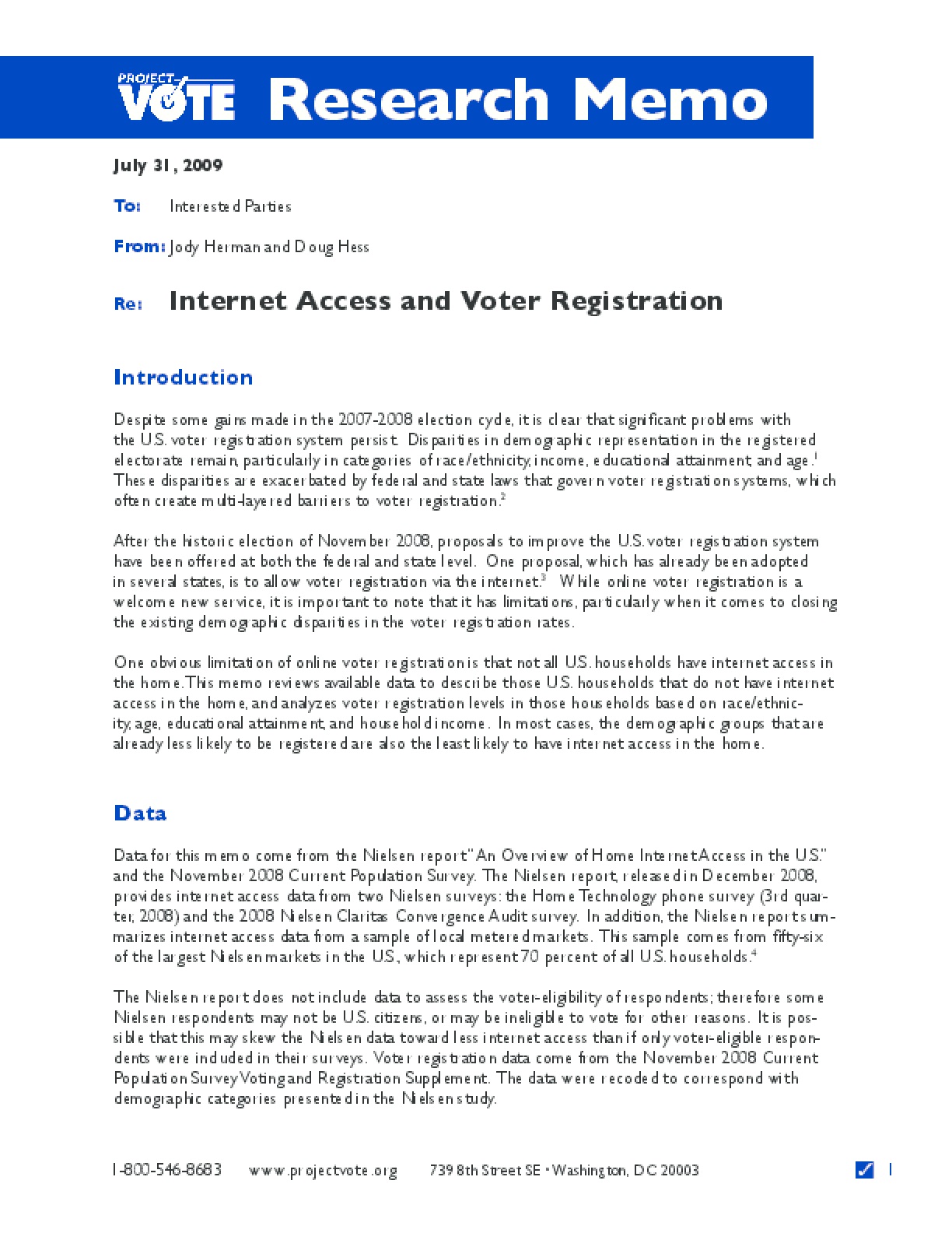 Internet Access and Voter Registration