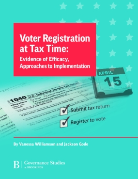 Voter Registration at Tax Time: Evidence of Efficacy, Approaches to Implementation