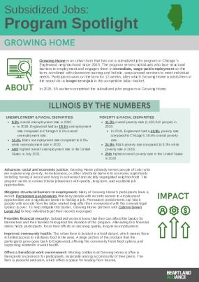 Subsidized Jobs Program Spotlight: Growing Home