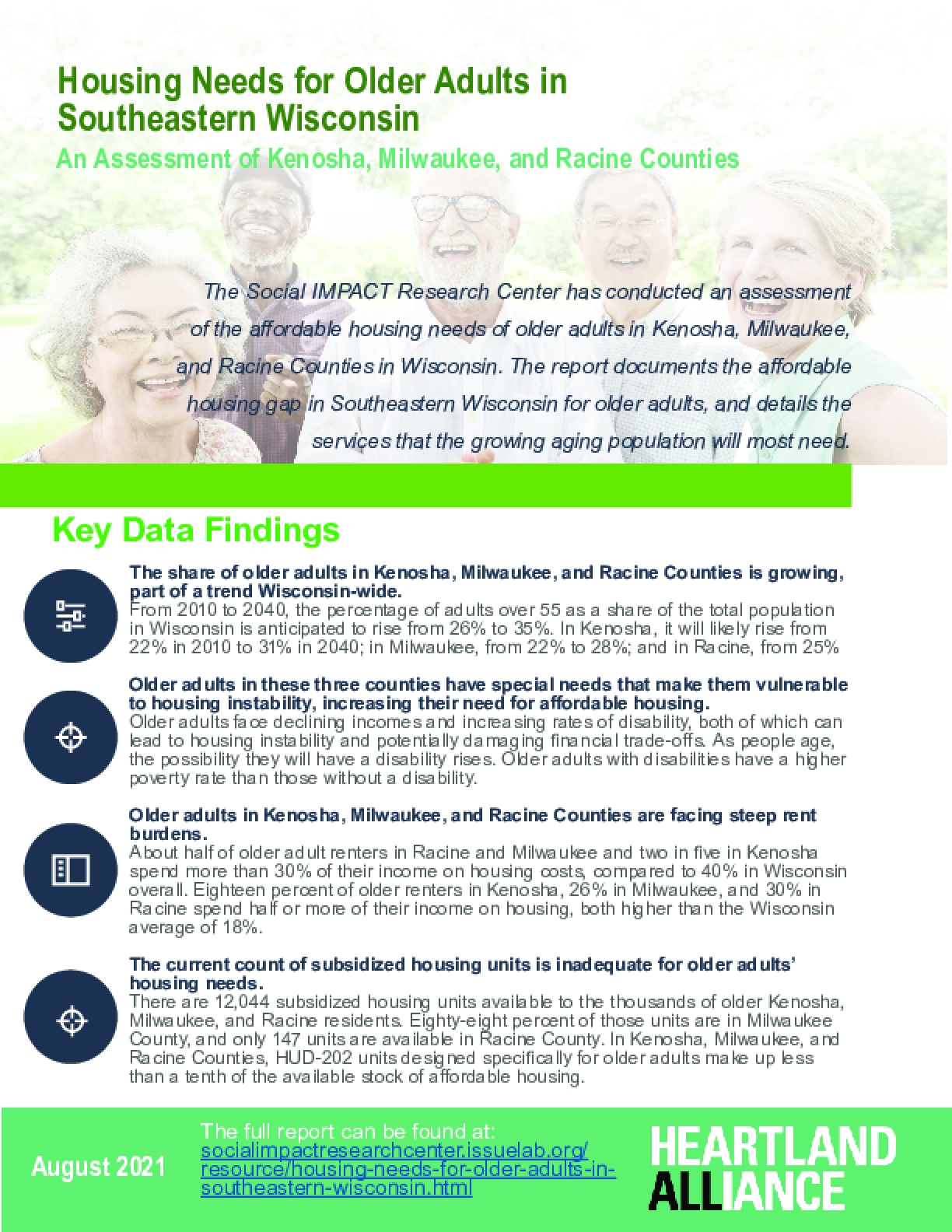 Housing Needs for Older Adults in Southeastern Wisconsin [Two-Pager]