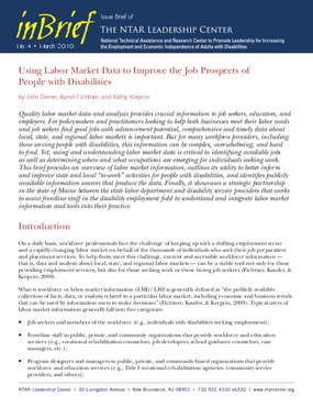 Using Labor Market Data to Improve the Job Prospects of People with Disabilities