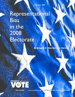 Representational Bias in the 2008 Electorate.