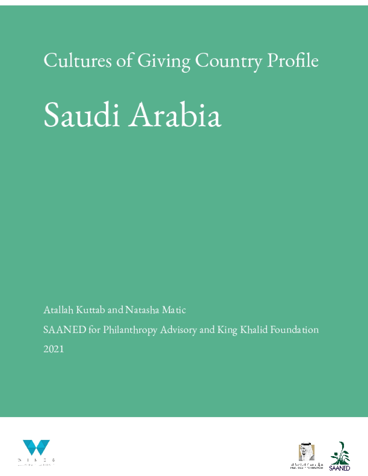 Cultures of Giving Country Profile: Saudi Arabia