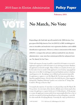 No Match, No Vote