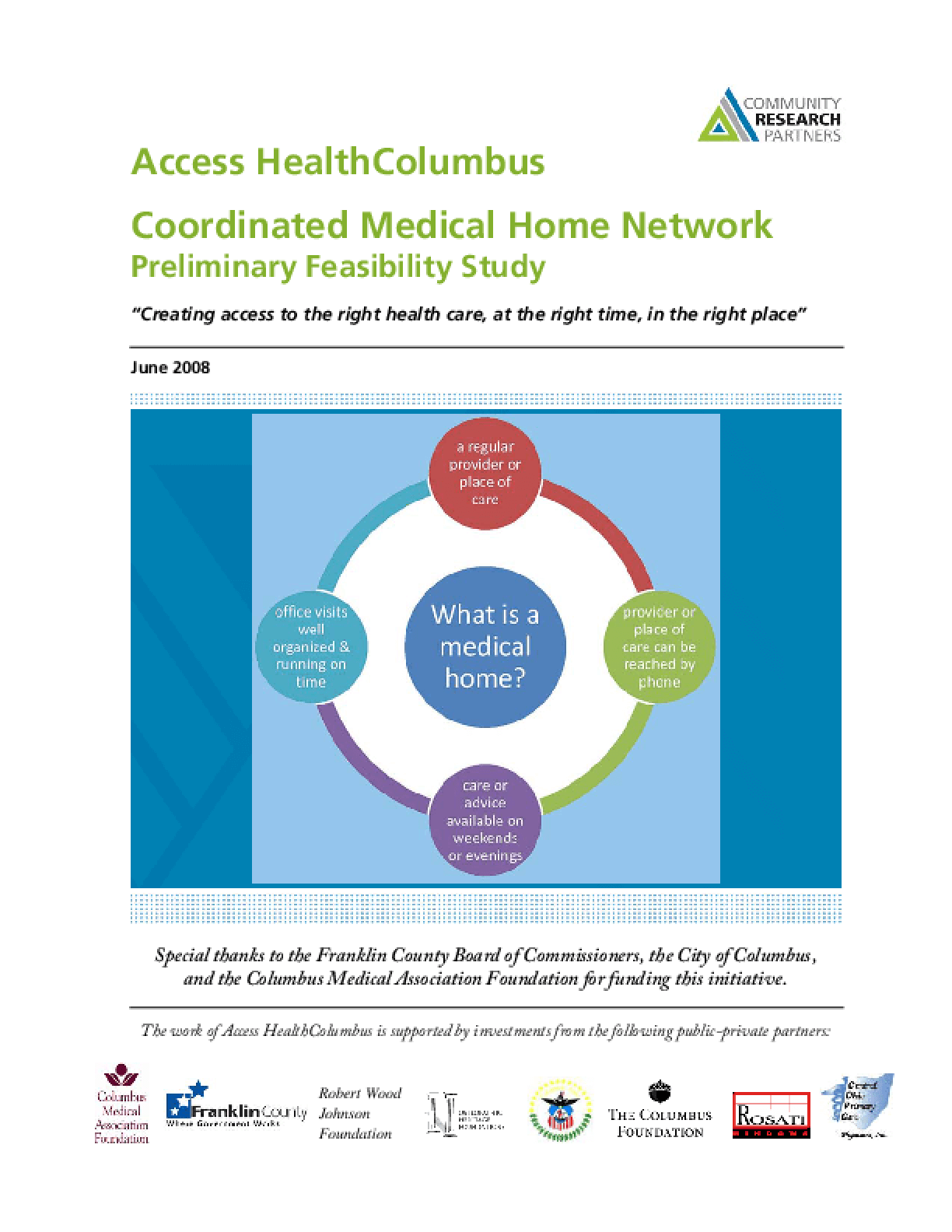 Coordinated Medical Home Network Preliminary Feasibility Study
