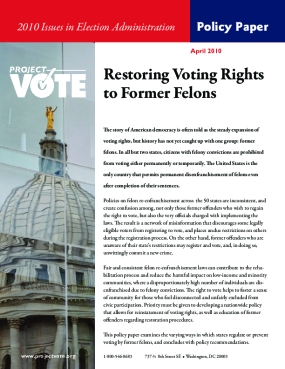 Restoring Voting Rights to Former Felons