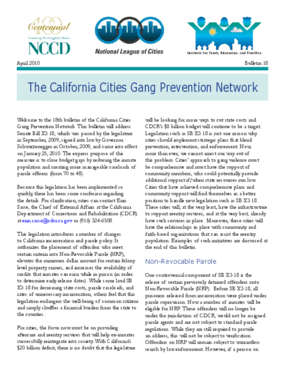 The California Cities Gang Prevention Network: Bulletin 18