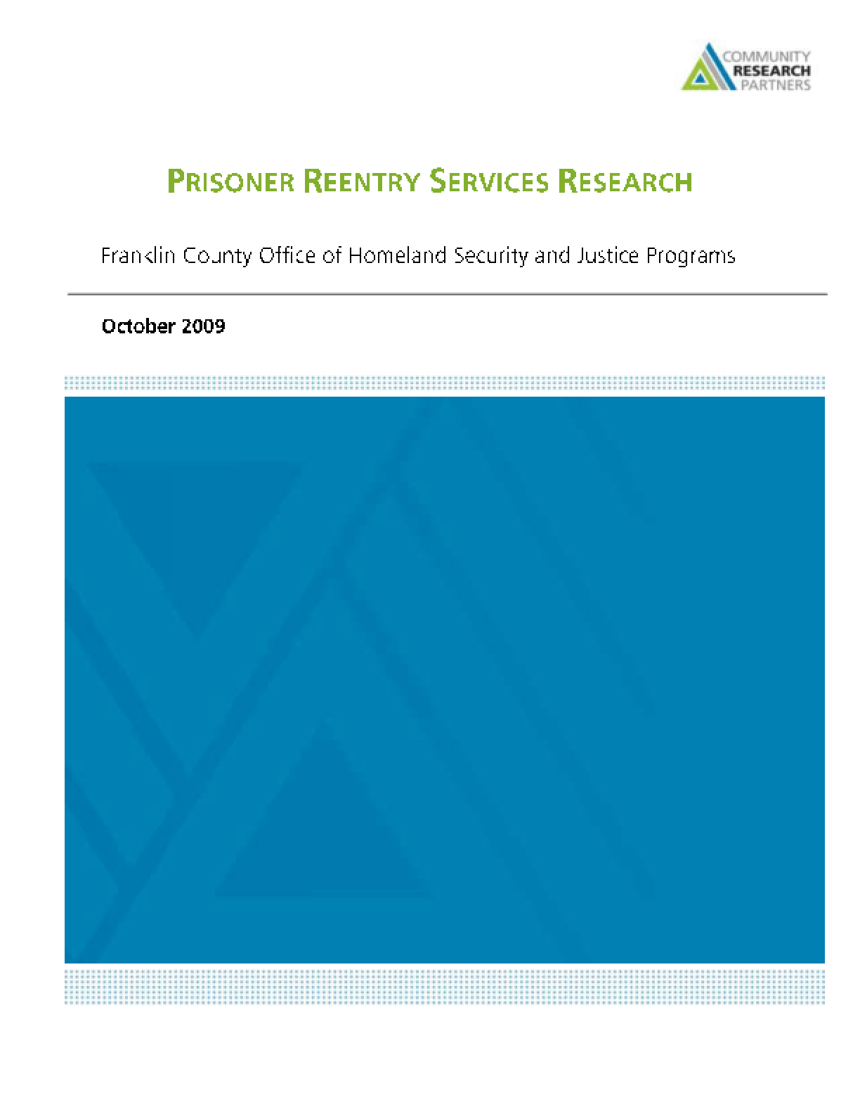 Prisoner Reentry Services Research