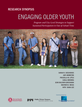 Engaging Older Youth: Program and City-Level Strategies to Support Sustained Participation in Out-of-School Time, Research Synopsis