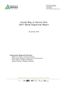 United Way of Central Ohio 2007 Racial Disparities Report