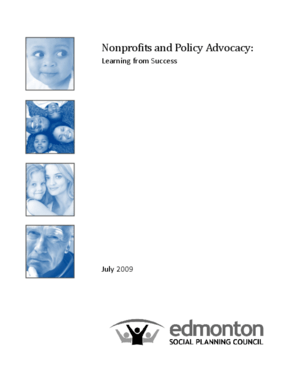 Non-Profits and Policy Advocacy: Learning from Success