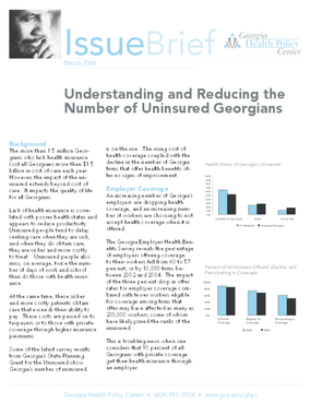 Understanding and Reducing the Number of Uninsured Georgians