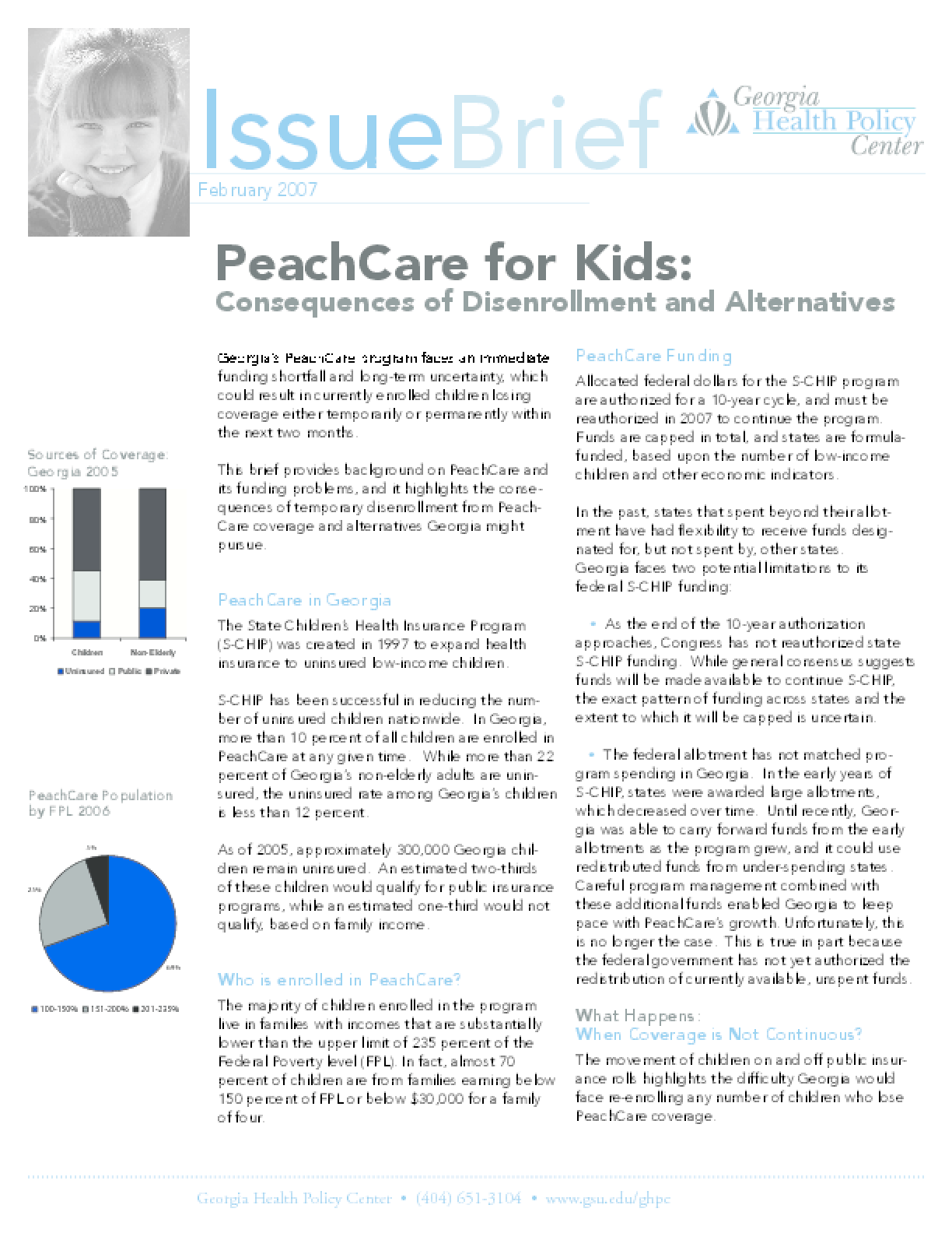 PeachCare Issue Brief