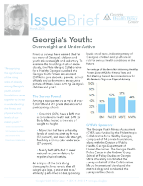 Georgia's Youth: Overweight and Under-Active