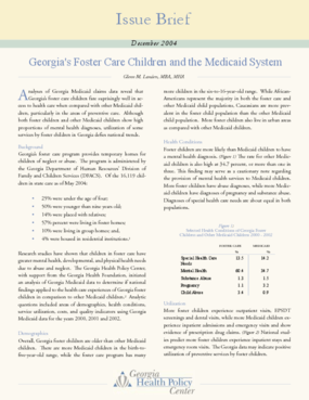 Georgia's Foster Care Children and the Medicaid System