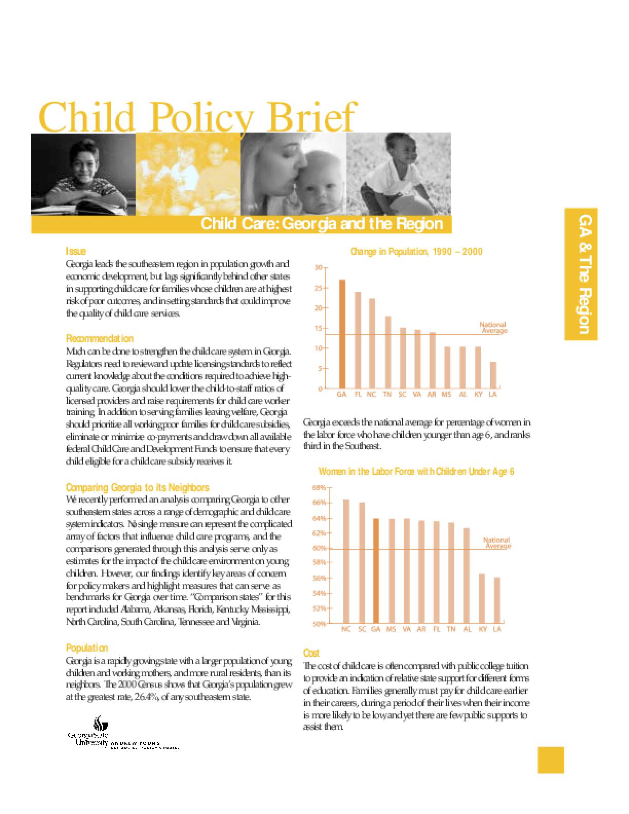 Child Care: Georgia and the Region