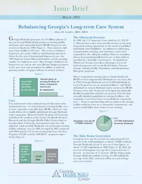 Rebalancing Georgia's Long Term Care System