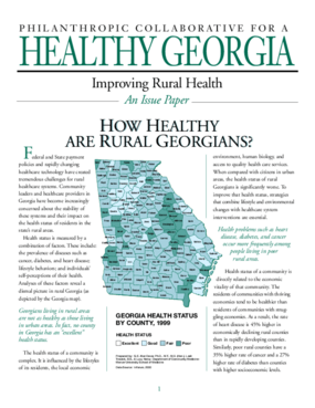 Improving Rural Health: How Healthy are Rural Georgians?